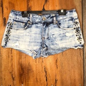 American Eagle Acid Wash Distressed Shorts Size 0